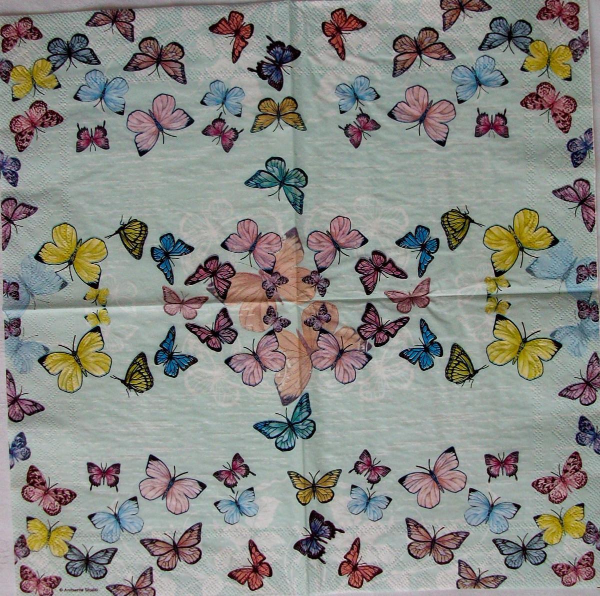 Blumenvase mit Sommerblumen 5 Servietten PAW