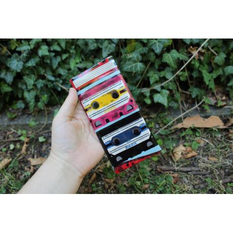 Mobile phone cover mixtape, oilcloth, handmade